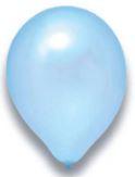 Latex Ballon hellblau metallic