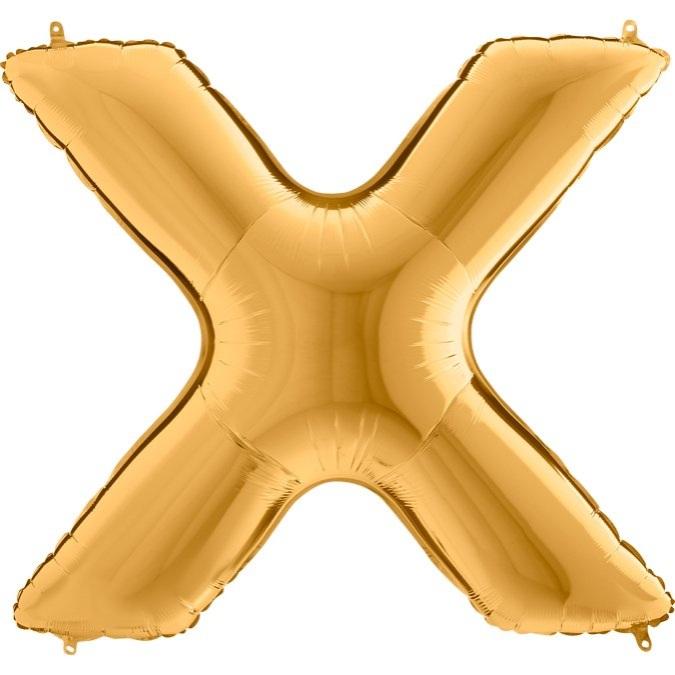 XXL Folienballon gold Buchstabe X