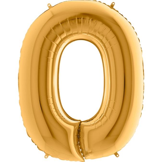 XXL Folienballon gold Buchstabe O