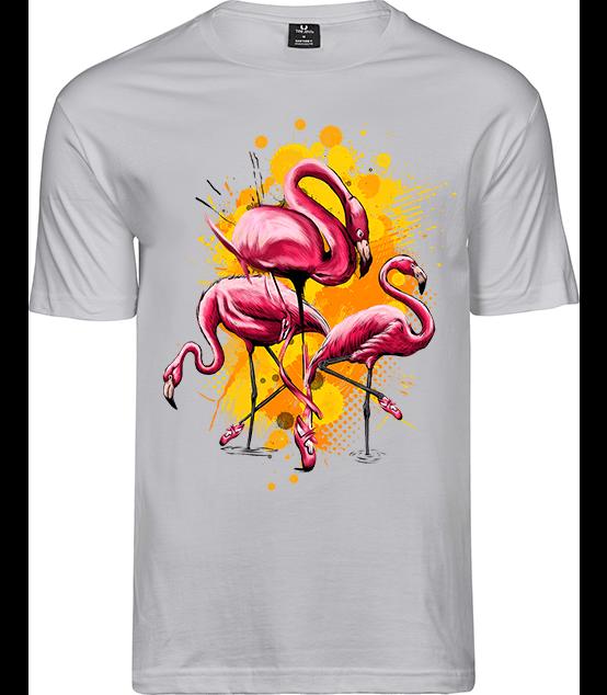 T-Shirt Flamingo Weiß / Regular