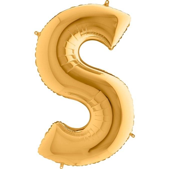 XXL Folienballon gold Buchstabe S