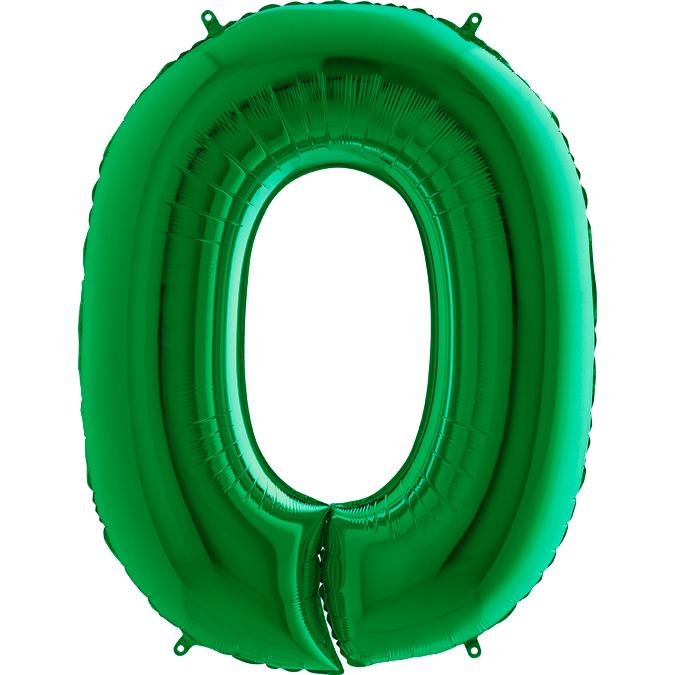 XXL Folienballon grün Zahl 0