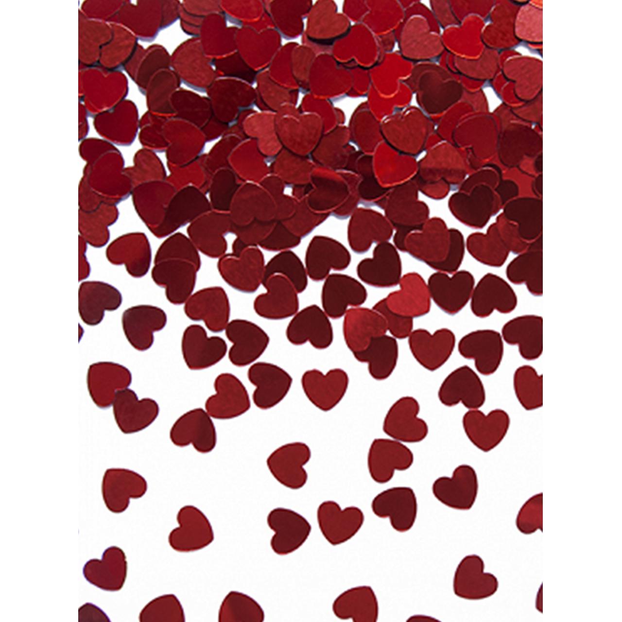 30g Metallickonfetti - Rote Herzen