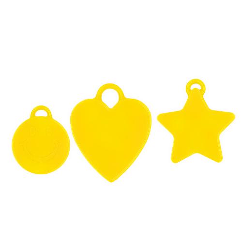 Ballongewicht gelb 16gr. verschiedene Formen