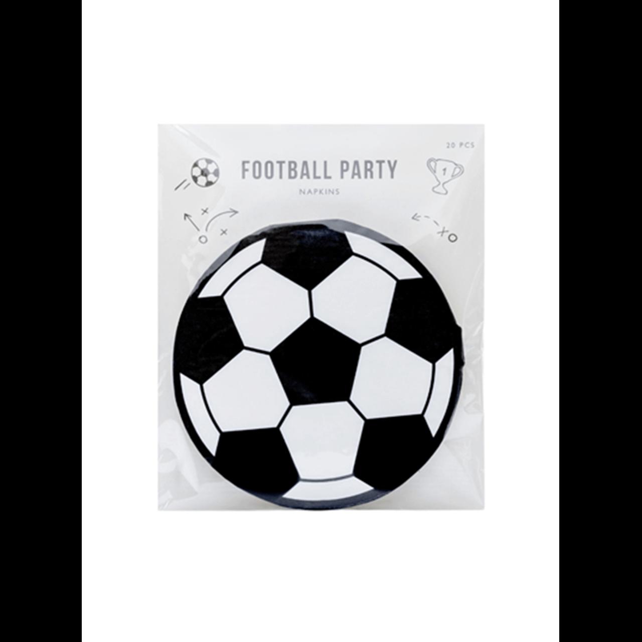 20x Servietten Trend Fußball Party
