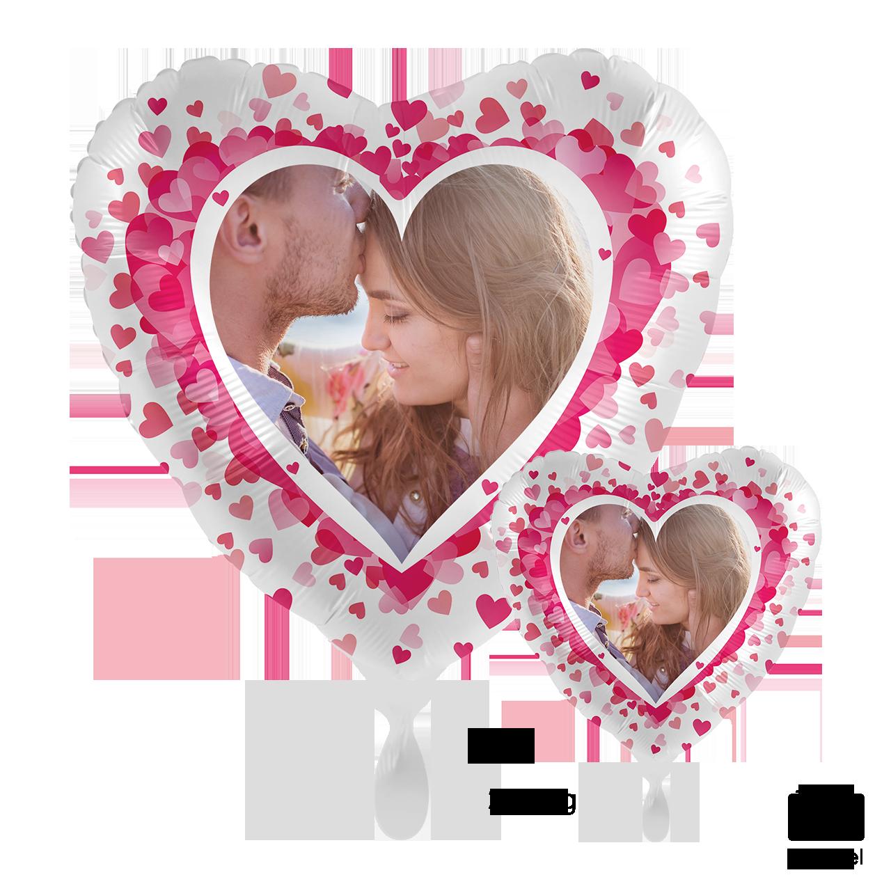 Fotoballon - Pink Hearts
