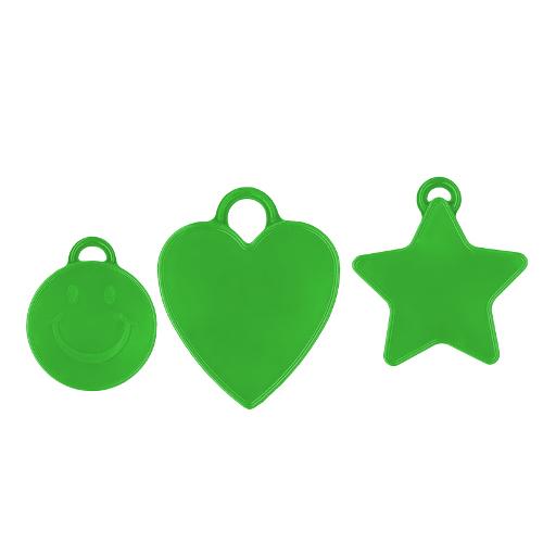 Ballongewicht grün 16gr. verschiedene Formen