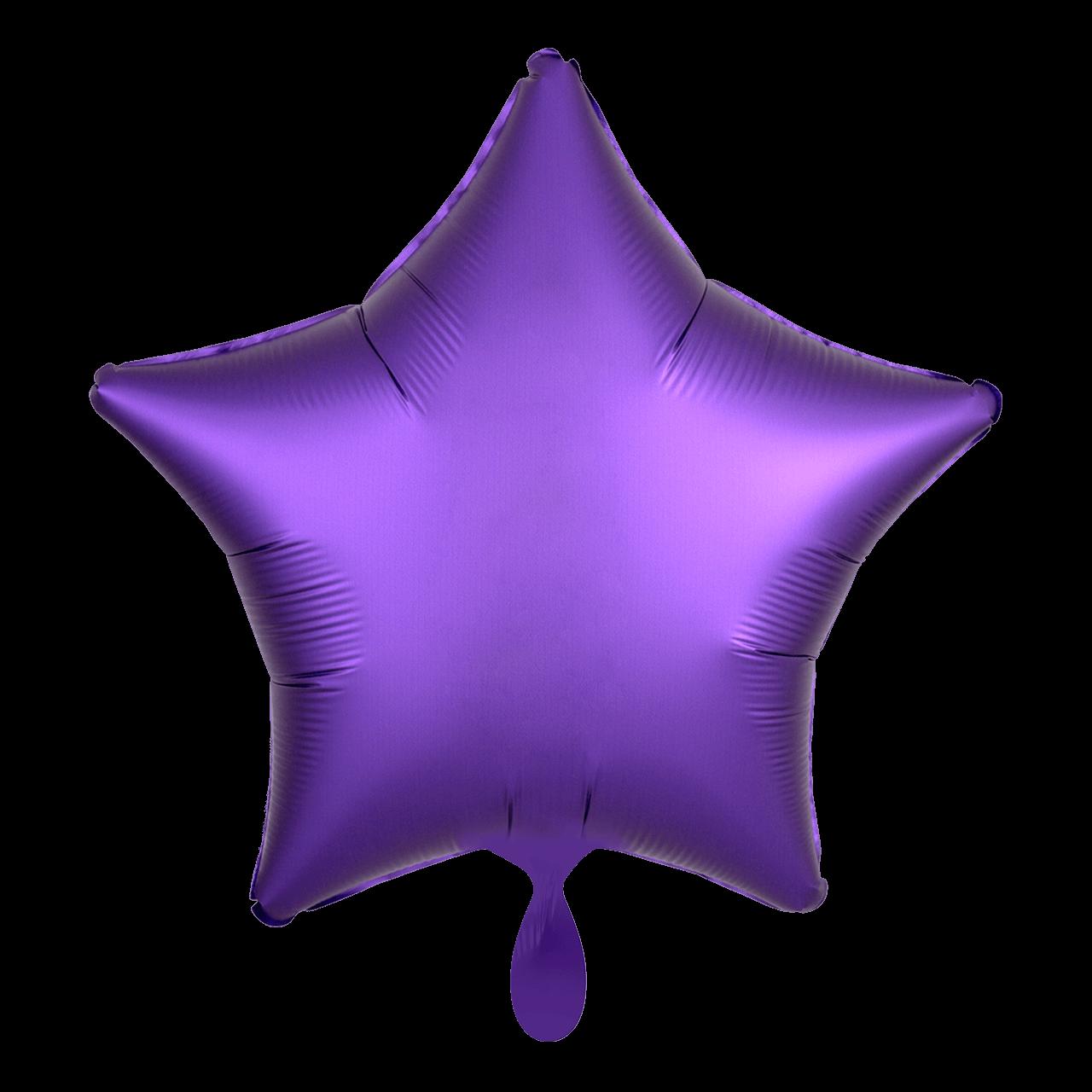 Standard Folienballon Stern - Lila Satin