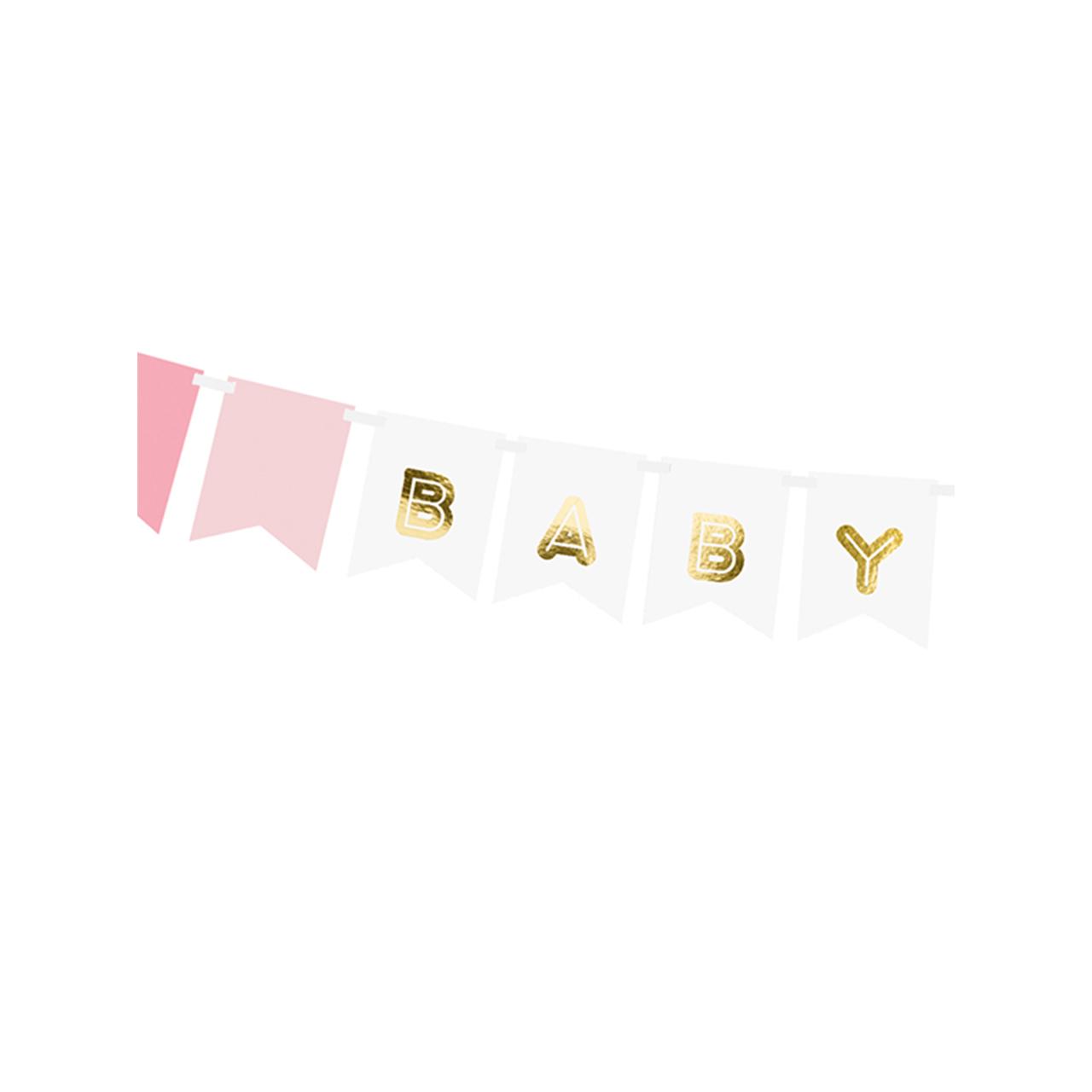 Banner / Girlande - Baby Girl - Rosa