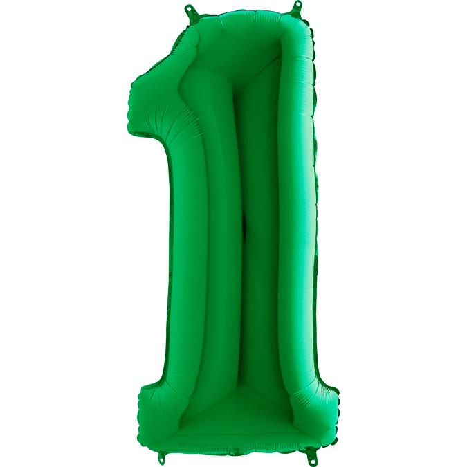 XXL Folienballon grün Zahl 1
