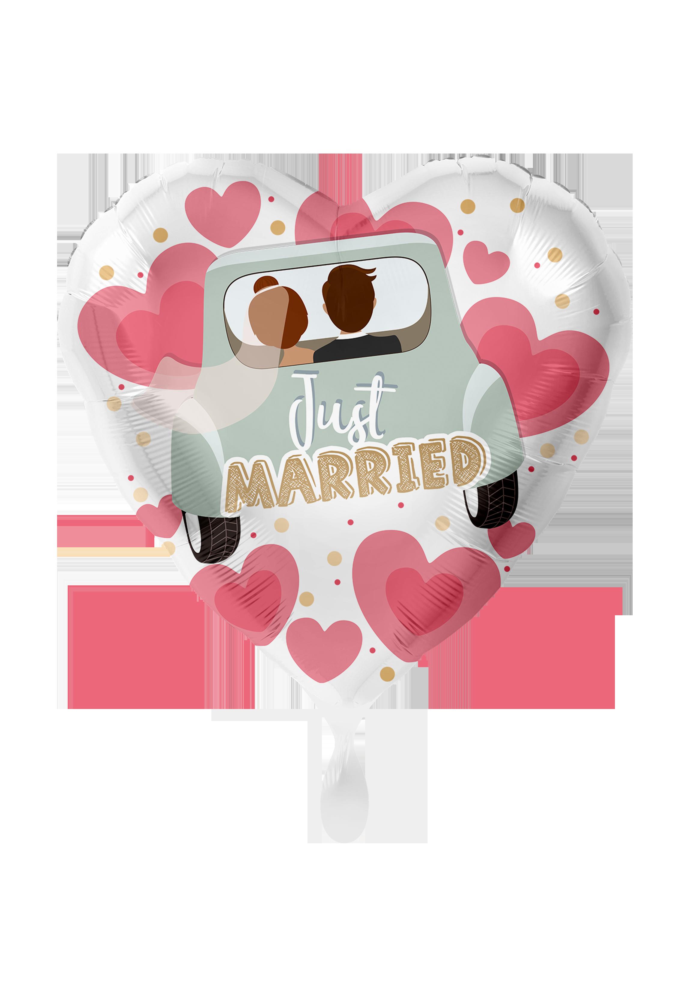 Just Married Auto - Folienballon