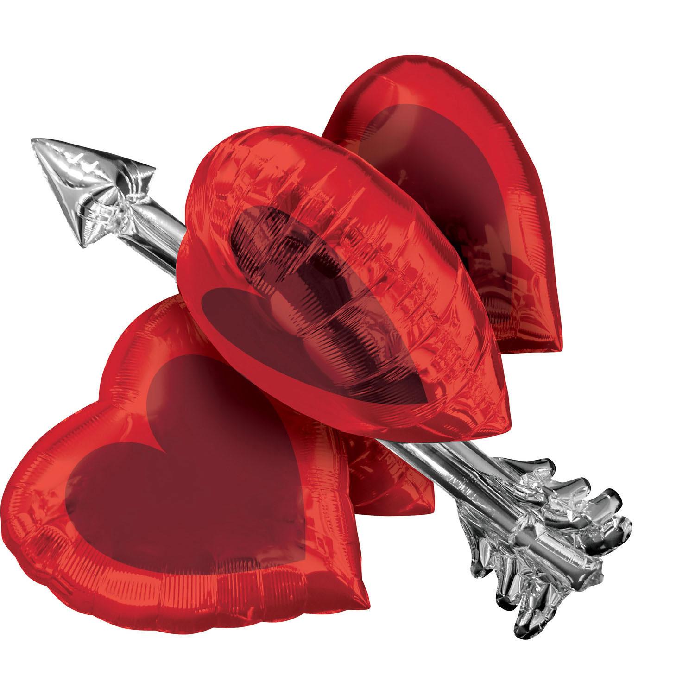 Heart Arrow Folienballon