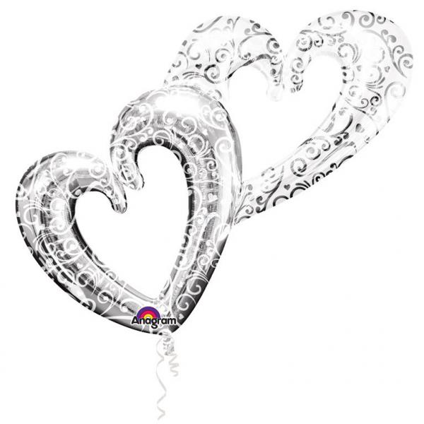 Interlocking Hearts - Foilenballon
