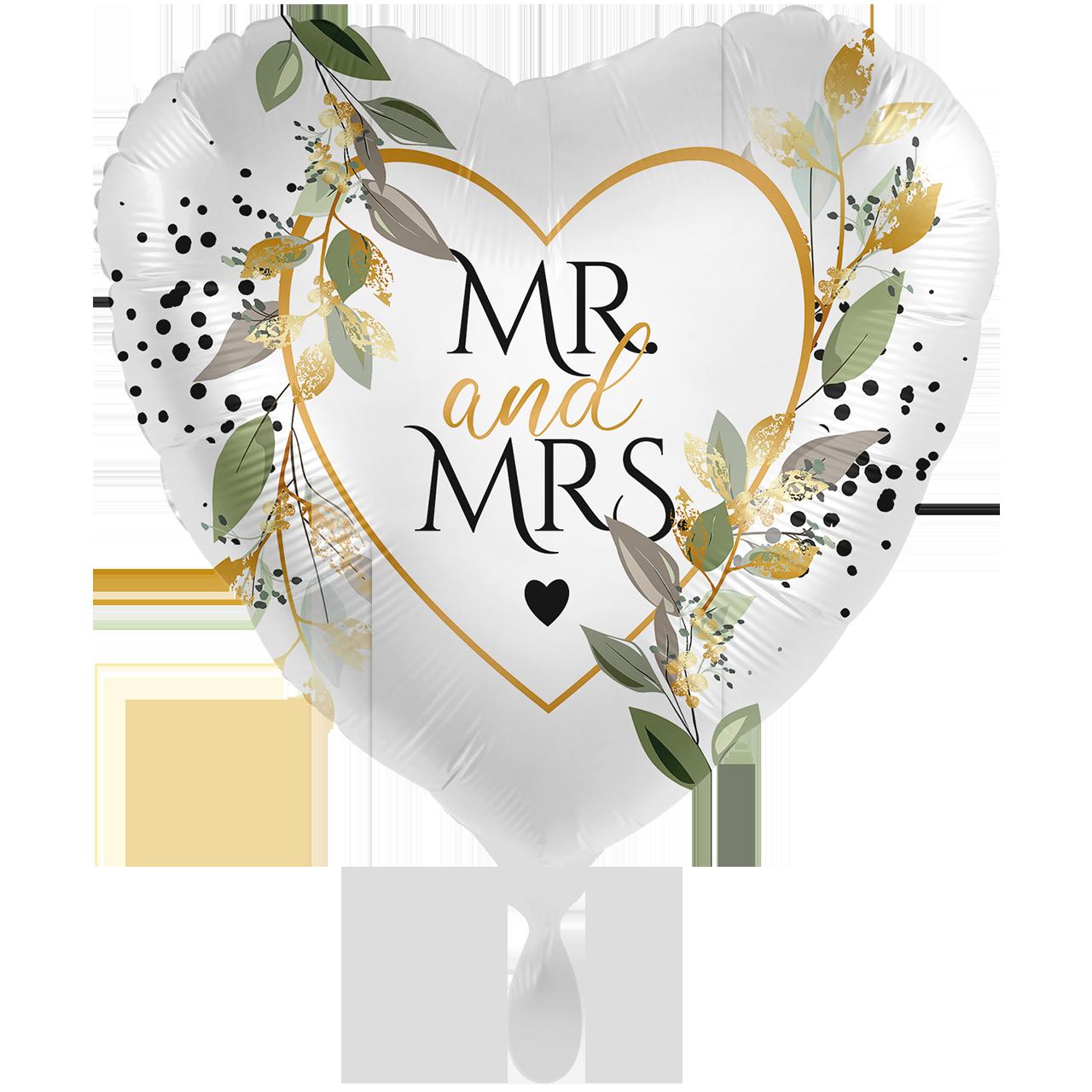 Hochzeit Mr & Mrs - XXL Folienballon