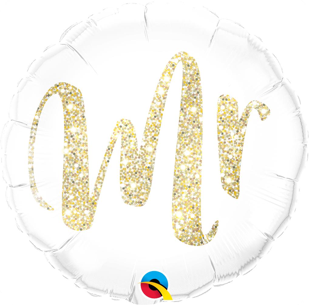 Mr. Glitter Gold - Folienballon
