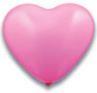 Latex Herz Ballon babyrosa