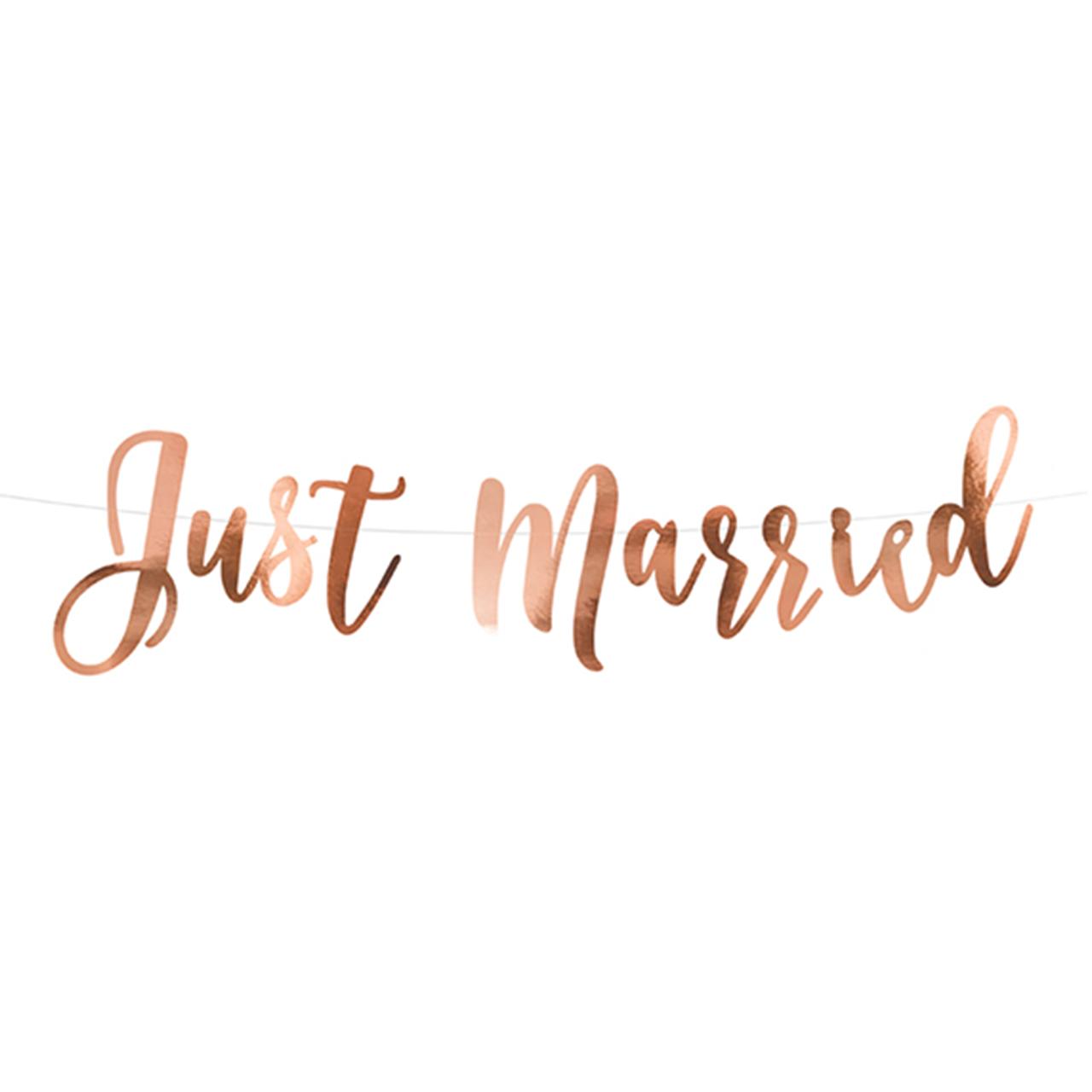 Banner / Girlande - Just Married - Rosegold