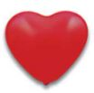 Latex Herz Ballon rot