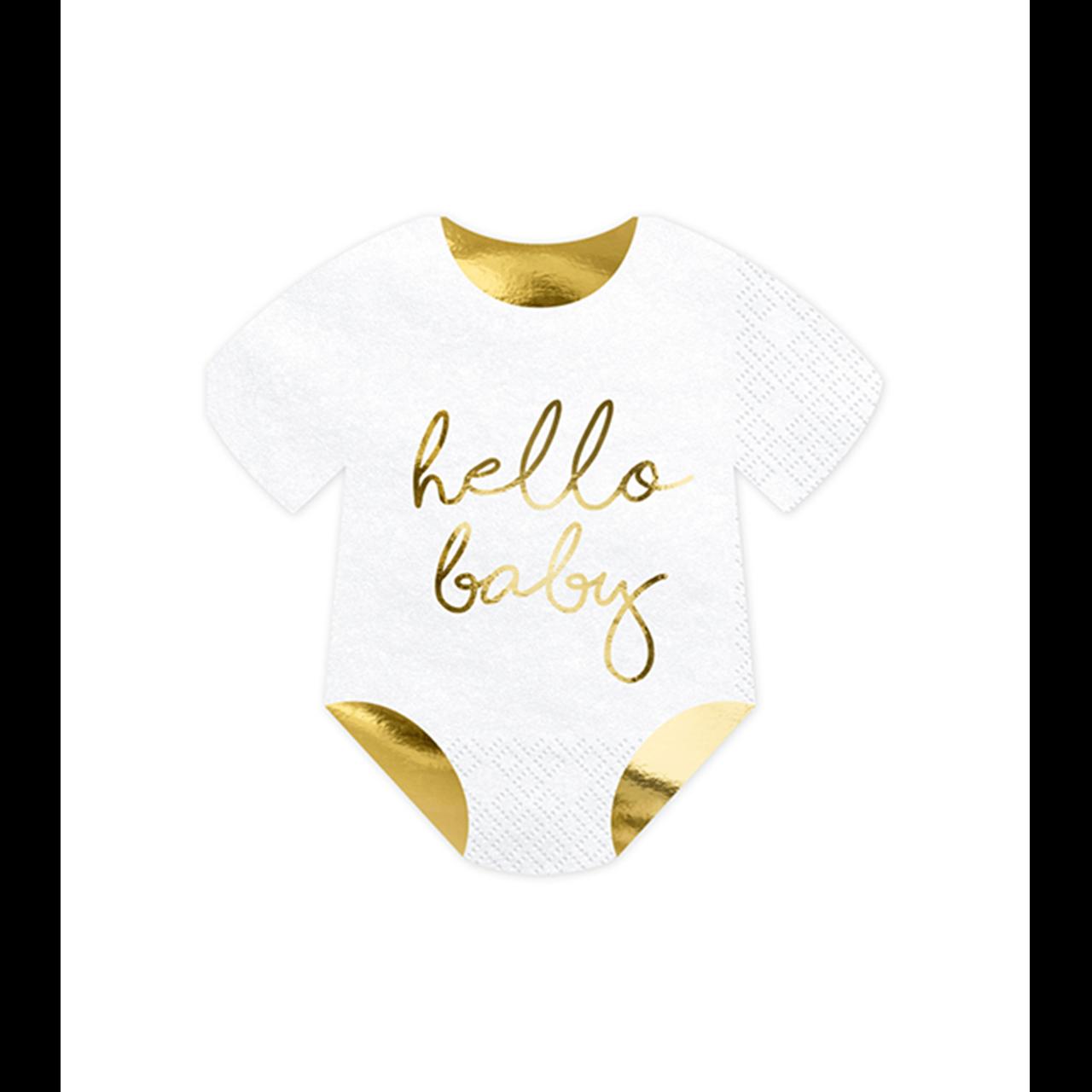 20x Servietten Trend Hello Baby