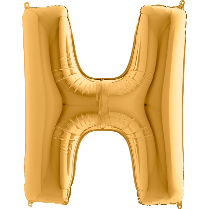 XXL Folienballon gold Buchstabe H
