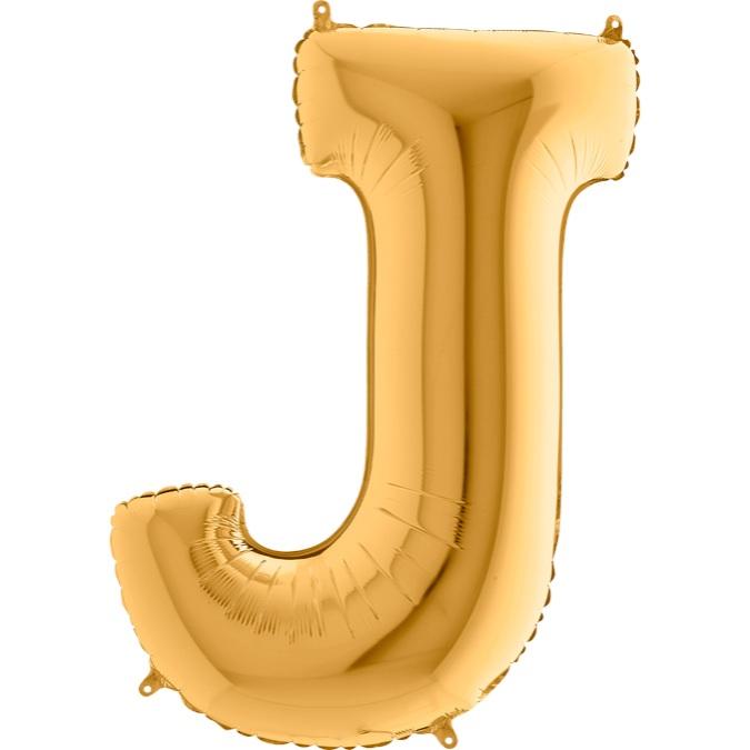 XXL Folienballon gold Buchstabe J