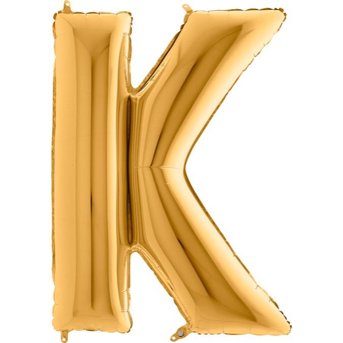 XXL Folienballon gold Buchstabe K