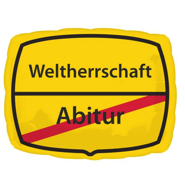 Abitur - Weltherrschaft Folienballon