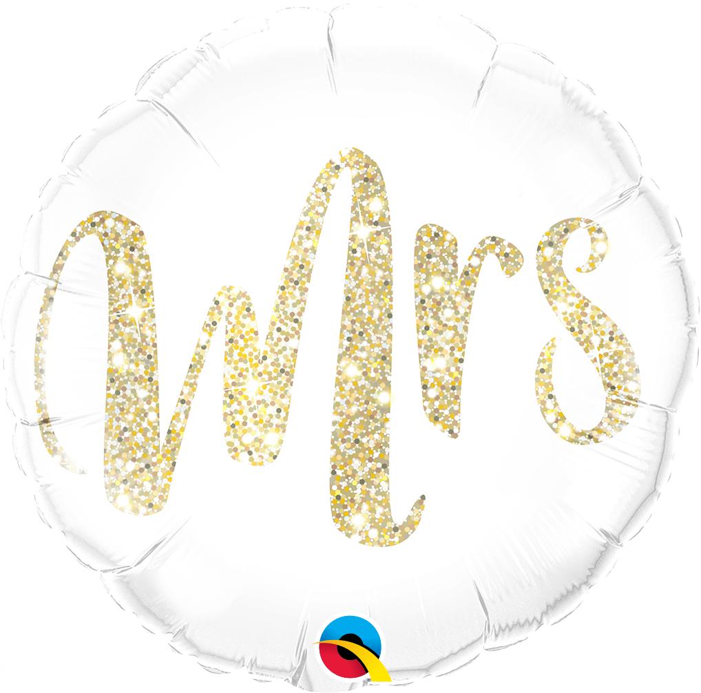Mrs. Glitter Gold - Folienballon