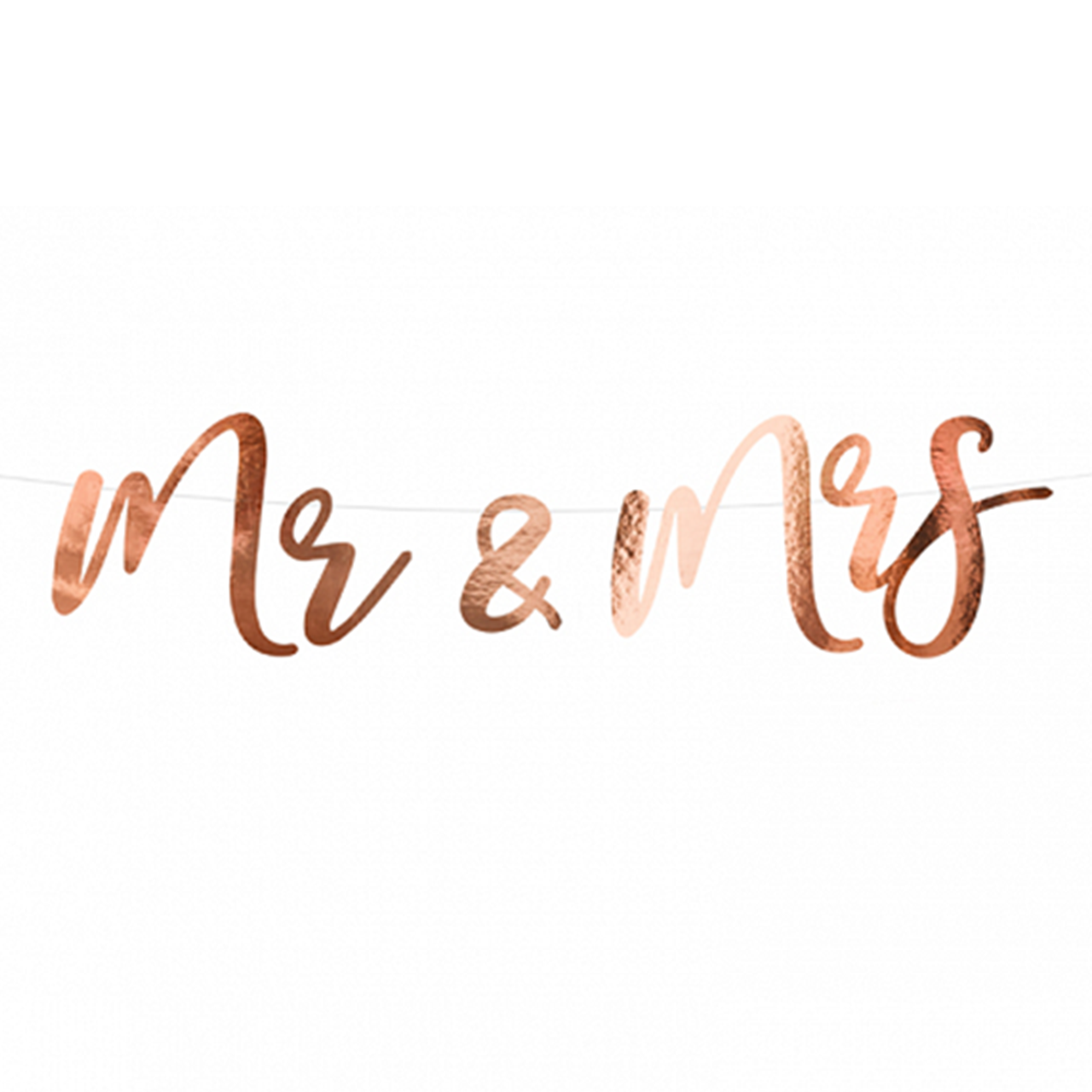 Banner / Girlande - MR & MRS - Rosegold