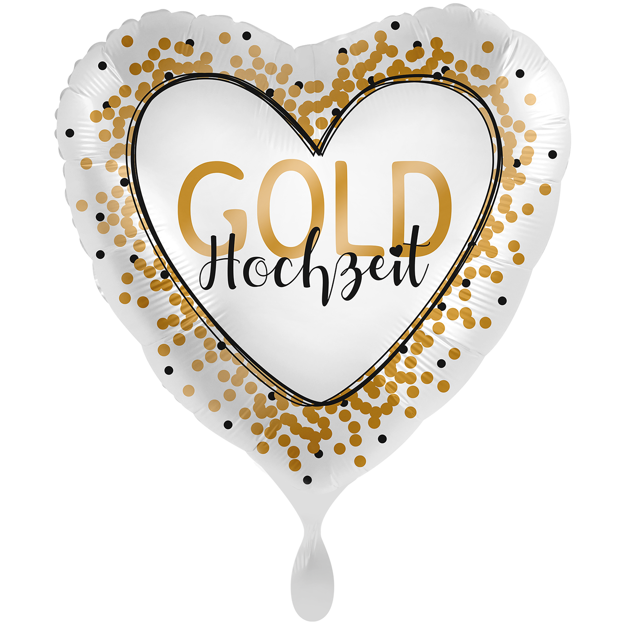 Goldhochzeit - Folienballon