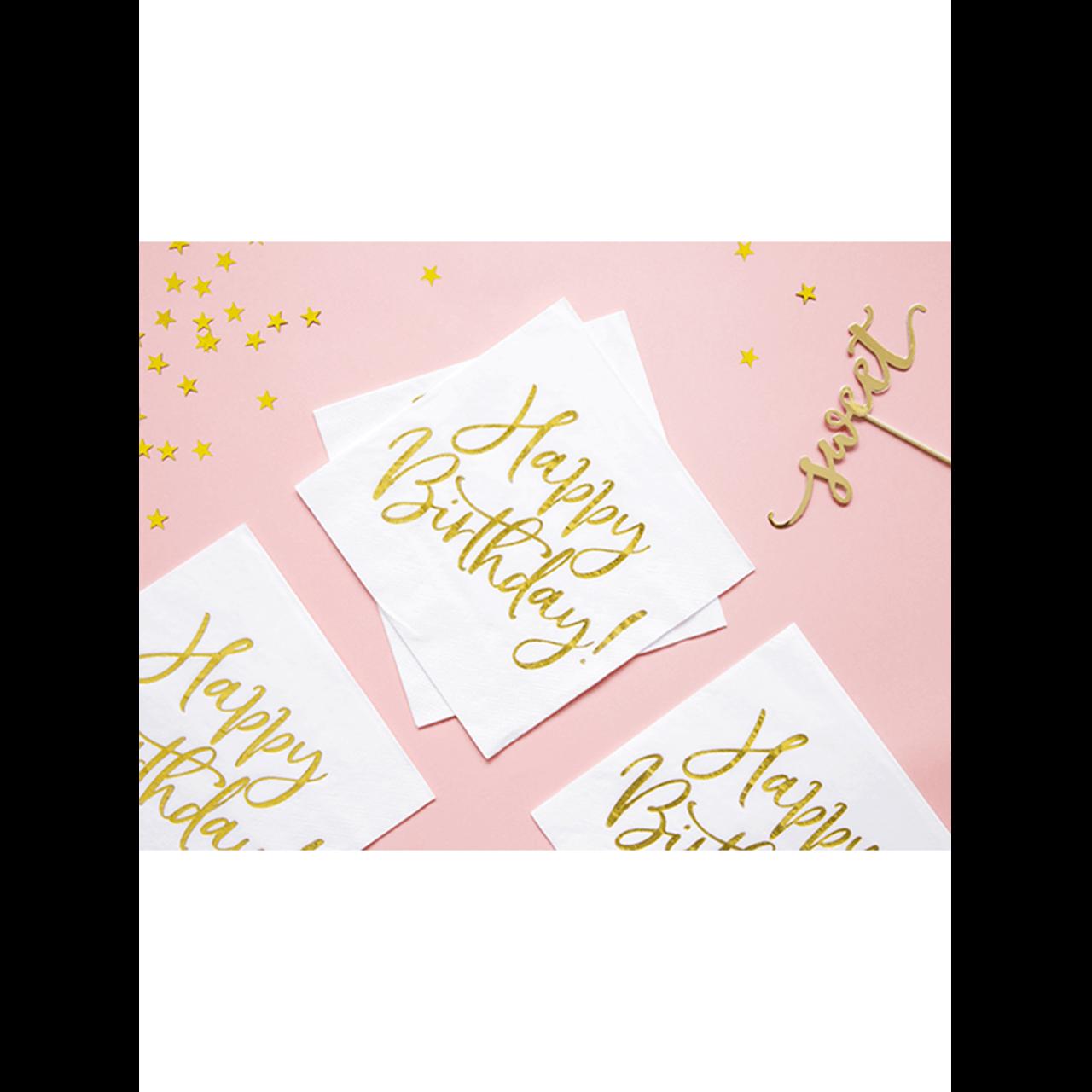 20x Servietten Trend Happy Birthday
